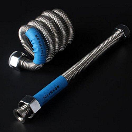 Tuyau MXJ61 304 en Acier Inoxydable Tube ondulé métallique Chauffe-Eau Raccorder Le d'eau Eau Chaude et Froide (Taille : 100cm)