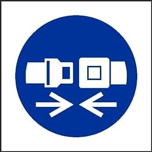 Go 150/Attache pour ceinture de sécurité (Panneau autocollant étiquette) facture TVA fourni