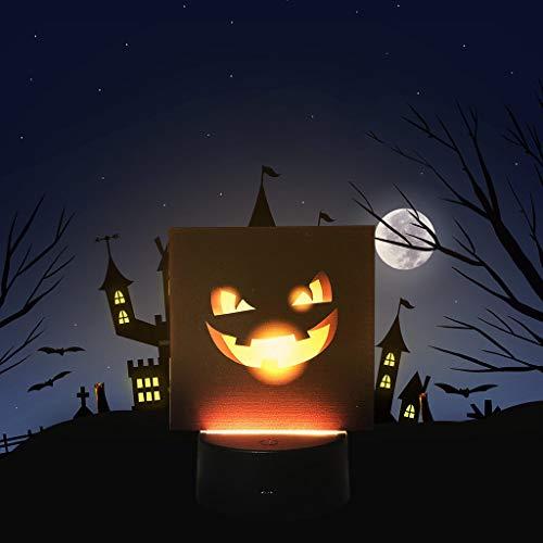 Mitlfuny Halloween coustems Kürbis Hexe Cosplay Gast Ghost Schicke Party Halloween deko,Halloween-Kürbis-Schläger-Muster-Nachtlicht-Szenen-Plan stützt Nachtdekoration