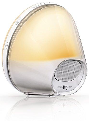 Philips HF3520/01 Wake-Up Light (Sonnenaufgangfunktion, digitales FM Radio, Tageslichtwecker) weiß - 4