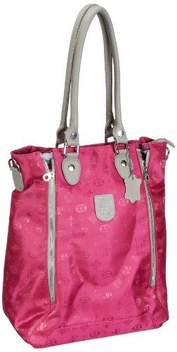 Poodlebags Damen Club - Attrazione - Milano - pink Shopper 32x42x18 cm -