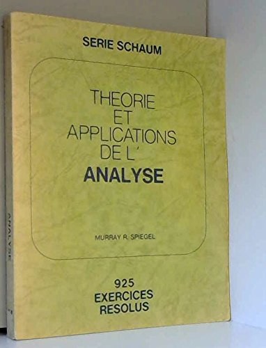 Théorie et applications de l'analyse