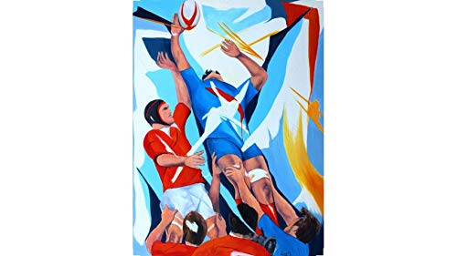 Toile Peinture Rugby Design Essai | Rugby France-Galles