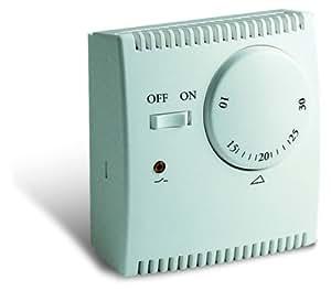 Sesam TEM 73C Thermostat mécanique d'ambiance avec dilatation de gaz et voyant de contrôle lumineux, bouton marche/arrêt