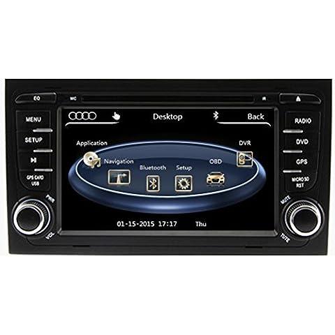 Generic 7Inch pantalla capacitiva y Original UI Auto Radio para Audi A4(2002200320042005200620072008) con GPS coche reproductor de DVD sistema Multimedia sistema de BUS CAN Bluetooth ipod RDS agenda