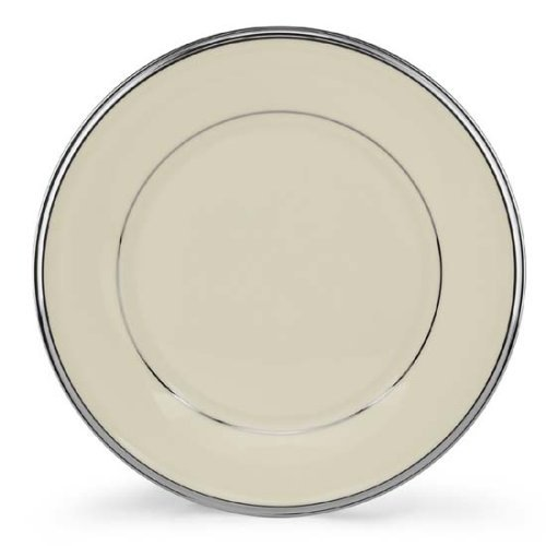 Lenox Solitaire Platinum Banded Ivory China Salad Plate by Lenox Platinum Ivory China