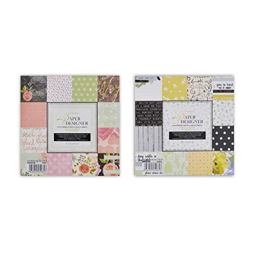VEESUN 48 Blätter (24 Designs) 6x6 Scrapbook Scrapbooking Handwerk Papier Paper Pack
