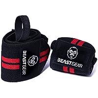 Beast Gear Muñequeras Deportivas Muñequeras Resistentes para Levantar de Pesas. Ideales para Crossfit.