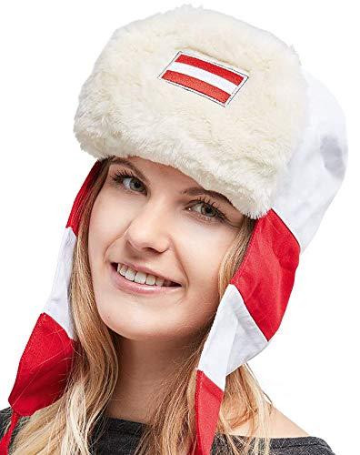 FanUschanka Österreich - Die Party-Mütze für Après-Ski und Fanmeile - aus hochwertiger Baumwolle - Apres Ski Fell
