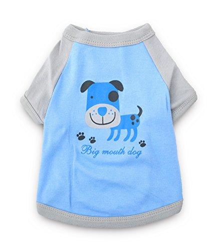 mwolle T Shirts Haustier-Hund kleidet Hunde-T-Shirt für kleine Hunde klein blau ()