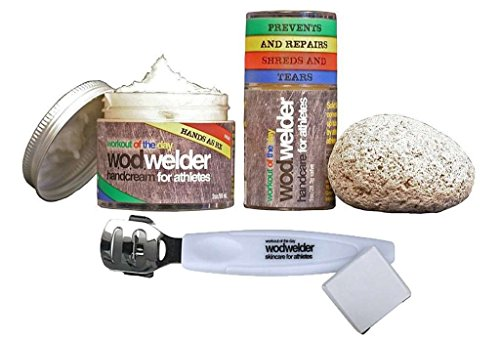 WOD Welder Handcare Value Pack - Solid Salve, Pumice Stone, RX Daily Cream and Power Callus Shaver with Extra Blades