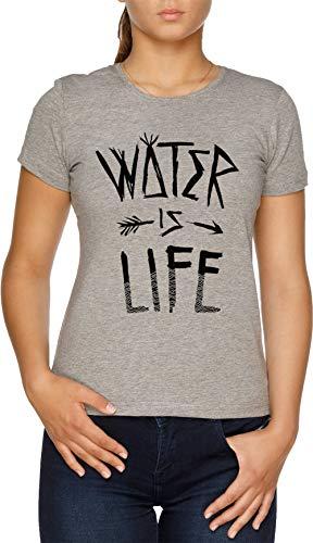 Water is Life Damen T-Shirt Grau -