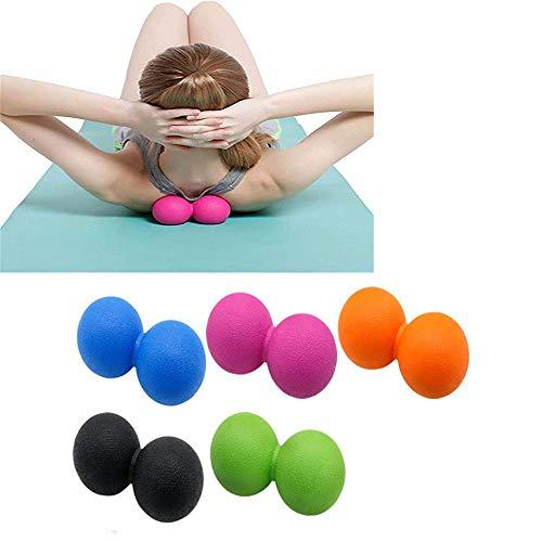 WXH 5 STÜCKE Yoga Massage Ball Lacrosse Trigger Point Therapie, Muskelknoten und Yoga Therapie, Myofascial Release, Faszien Release, Massage Balls for Foot,B - Vorteil Rollstuhl