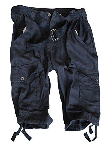 Vintage Cargo-Pantaloncini a 3/4-Pantaloni unisex per inclusa Cintura uomo blu 48