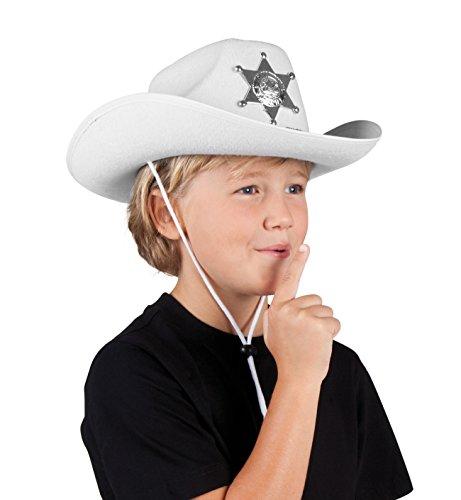 Boland 04114 - Kinderhut Sheriff junior, Einheitsgröße, weiß