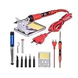 Flushzing 10pcs 80W Digital LCD Thermostat électrique Fer à souder Kit température réglable soudage Pen EU Plug