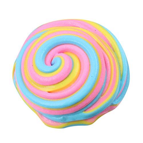 Jouets de décompression Fluffy Floam Argile,Kolylong 2017 Slime Scented Stress Relief No Borax Kids Toy Jouet de boue Jouets de décompression La boue de coton pour libérer des jouets en argile (Multicolore 2)