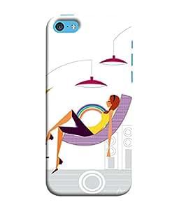 FUSON Designer Back Case Cover for Apple iPhone 5c (Office Lights Shoes Mordern Speakers Beauty Parlor)