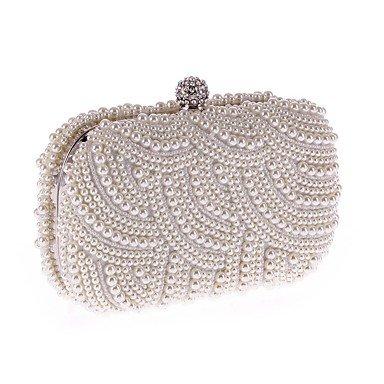 Frauen Imitation Pearl formale Veranstaltung/Party Hochzeit Abend Tasche Handtasche Kupplung Black