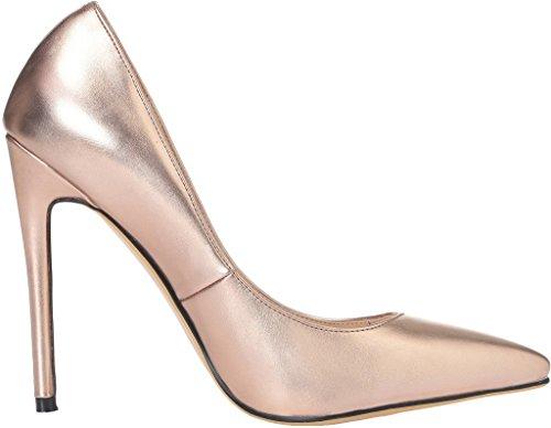 a3aa4c28123ab4 ... Calaier Damen Caelse 12CM Blockabsatz Schlüpfen Pumps Schuhe Gold ...