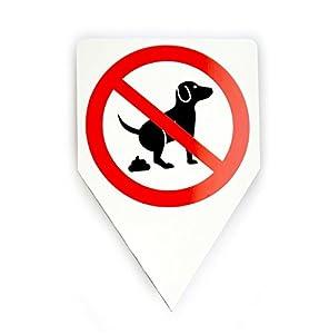 """artens suelo laminado: 'Cartel ranuras """"perros koten Prohibido, no Perros Toilette, isecur®, 20x 30cm..."""