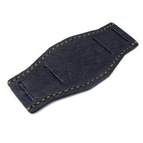 Cinturino BUND in vera pelle di vitello nero opaco con cinturino per...