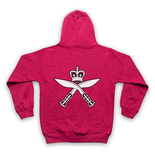 Gurkha Regimental Insignia Badge Logo Kinder Kapuzensweater mit Reißverschluss, Rosa, 5-6 Jahren (32-zoll-tv Insignia)