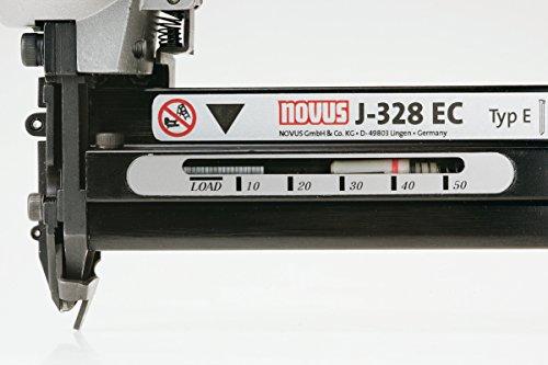 Novus 032-0033 J-316 air power, agrafeuse pneumatique, boîtier en métal léger, mécanismes de chargement en bas, isonorisation, déverrouillage de sécurité, agrafes à fil fin jusqu'à 16 mm