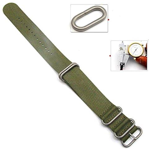 Transer® Für Garmin Fenix 3 Ersatz Uhrenarmbänder Fashion Nylon Uhrenarmband Langlebig Bügel Armband für Uhren Länge 260MM Breite: 26MM Grün Schwarz (Grün)