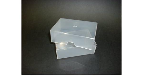 Set Of 100 Visitenkarten Kunststoff Transparent 100 Mm X 65