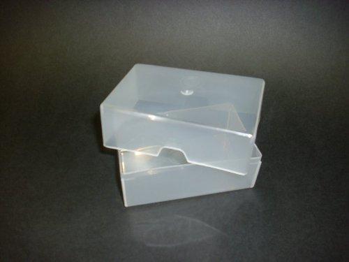 Lot De 100 Cartes Visite En Plastique Transparent CRAFT Bote Mm X