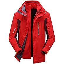 WKNBEU Hombres Invierno A Prueba De Viento Esquí Lluvia Nieve Gris Rojo Cálido Chaquetas Azul Negro
