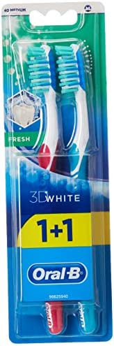 Oral-B 3D White Fresh Toothbrush x 2 - Assorted Colours