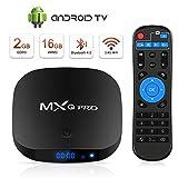 Android TV Box Boîtier TV 3D+4K [2019 Dernière Version] Mxq Pro Android Smart TV, avec HD/H.265 / 4K / 3D / BT