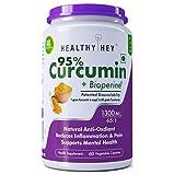 Healthyhey Nutrition Curcumin With Bioperine 1300Mg (Ultra Pure) Organic Turmeric, Vegetable Caps With