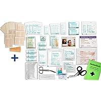 Komplett-Set Erste-Hilfe DIN 13 157 PLUS 1B für Betriebe + ZUSÄTZL. 1x Pflasterset (28-teilig) + Notfallbeatmungshilfe... preisvergleich bei billige-tabletten.eu