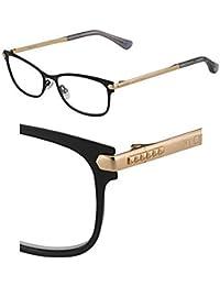 Jimmy Choo Marcos de gafas con receta para hombres 53/16/140 Bkgdcpp mate