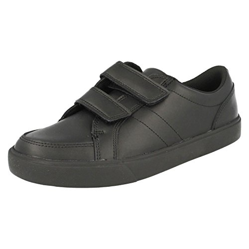 Clarks pour l'école Kensal Race Bl Chaussures en cuir Noir Noir - noir