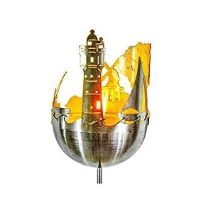 J. Tiedemann Manufaktur & Design Edelstahl Gartenfackel Wattenmeer für Kerzen oder Wachseinsatz, inkl. Wetterfest und rostfrei