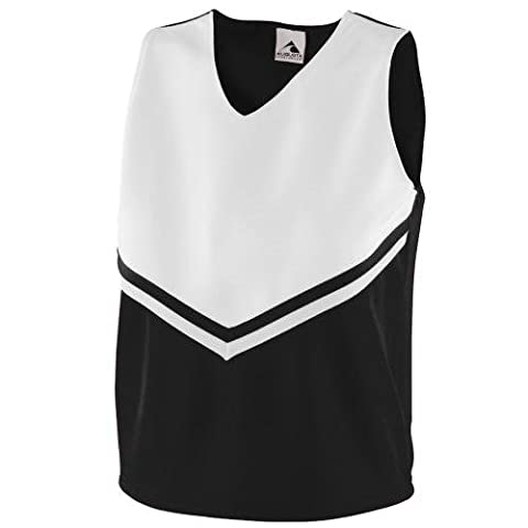 Augusta Women's Sleeveless V Neck Pride Shell - Black/White 9110A L