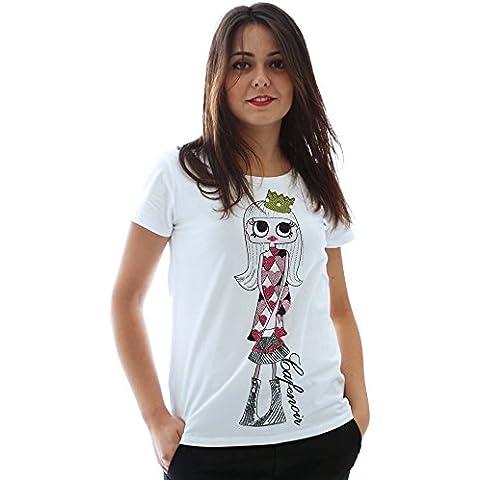 T-shirt con stampa personaggio CafèNoir - Colore Bianco