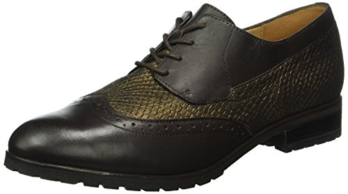 Caprice 23350, Scarpe Stringate Basse Brogue Donna Marrone (BROWN MULTI 353)