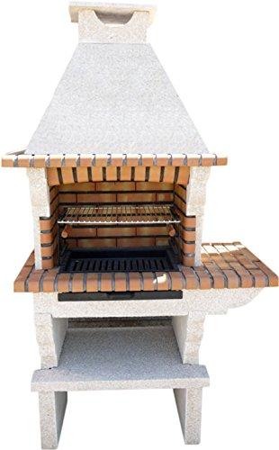 Barbecue en pierre reconstituée et brique
