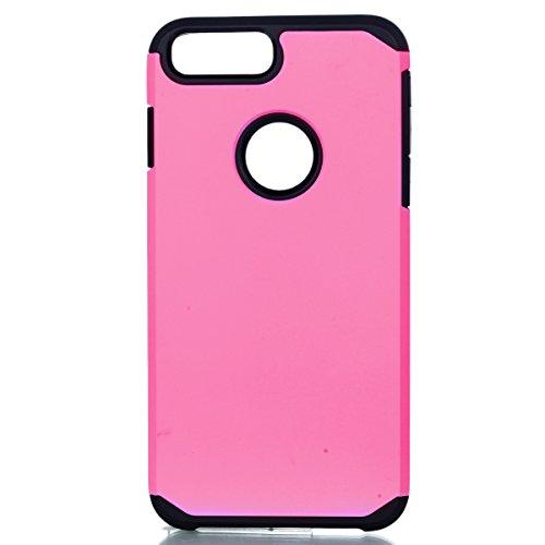 Per iphone 7 plus 5.5 pollici 2016 Neo Custodia, Ekakashop di lusso Hybrid Heavy Duty antiurto morbido silicone Gel & Rigida PC 2-in-1 non Layer antiscivolo Anti-dirt Protezione Protettivo Cover Case  Hot Pink