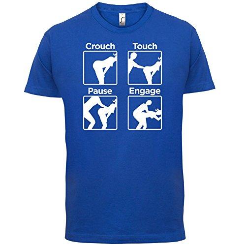 Crouch Touch Pause Engage - Herren T-Shirt - 13 Farben Royalblau