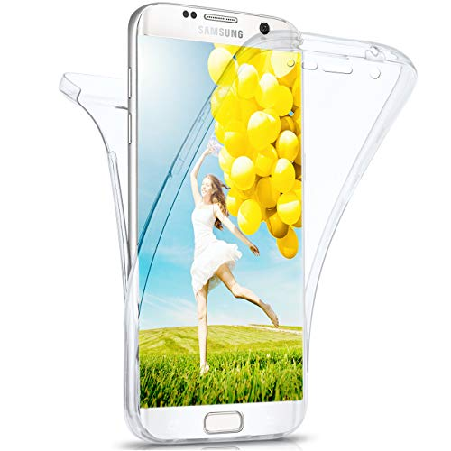 moex Samsung Galaxy S7 Edge | Hülle Silikon Transparent 360 Grad Double Side Cover Dünne Schutzhülle Slim Handyhülle für Samsung Galaxy S7 Edge Case Transparent Silikonhülle TPU