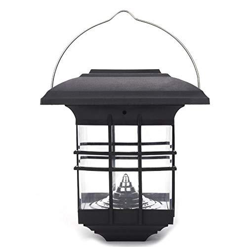 Riuty Luz Colgante portátil con energía Solar, Sensor automático Incorporado Lámpara LED para jardín, Patio Exterior, Linterna, para senderos de jardín, terrazas y Patios (White)