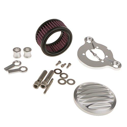 Generic Sistema Di Filtro Aria Cromato Per Harley Sportster XL883 1200 X48