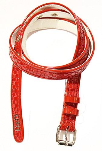 D&G Damen Gürtel Rot rot 90 cm