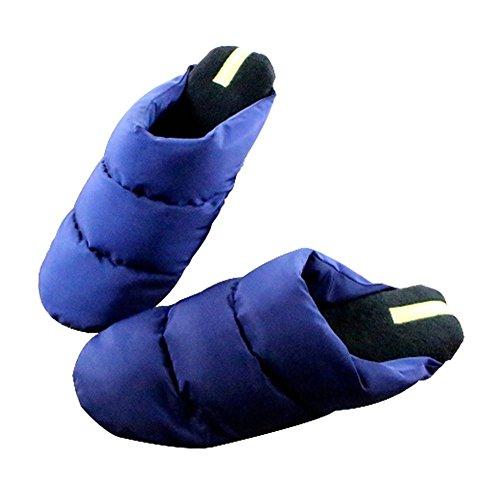 Pantoufles Chaussons Chintillons en Coton Chaussures Home Hommes deep blue